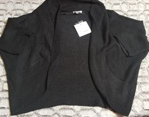 NWT Croft & Barrow Black Knit Shrug Cardigan